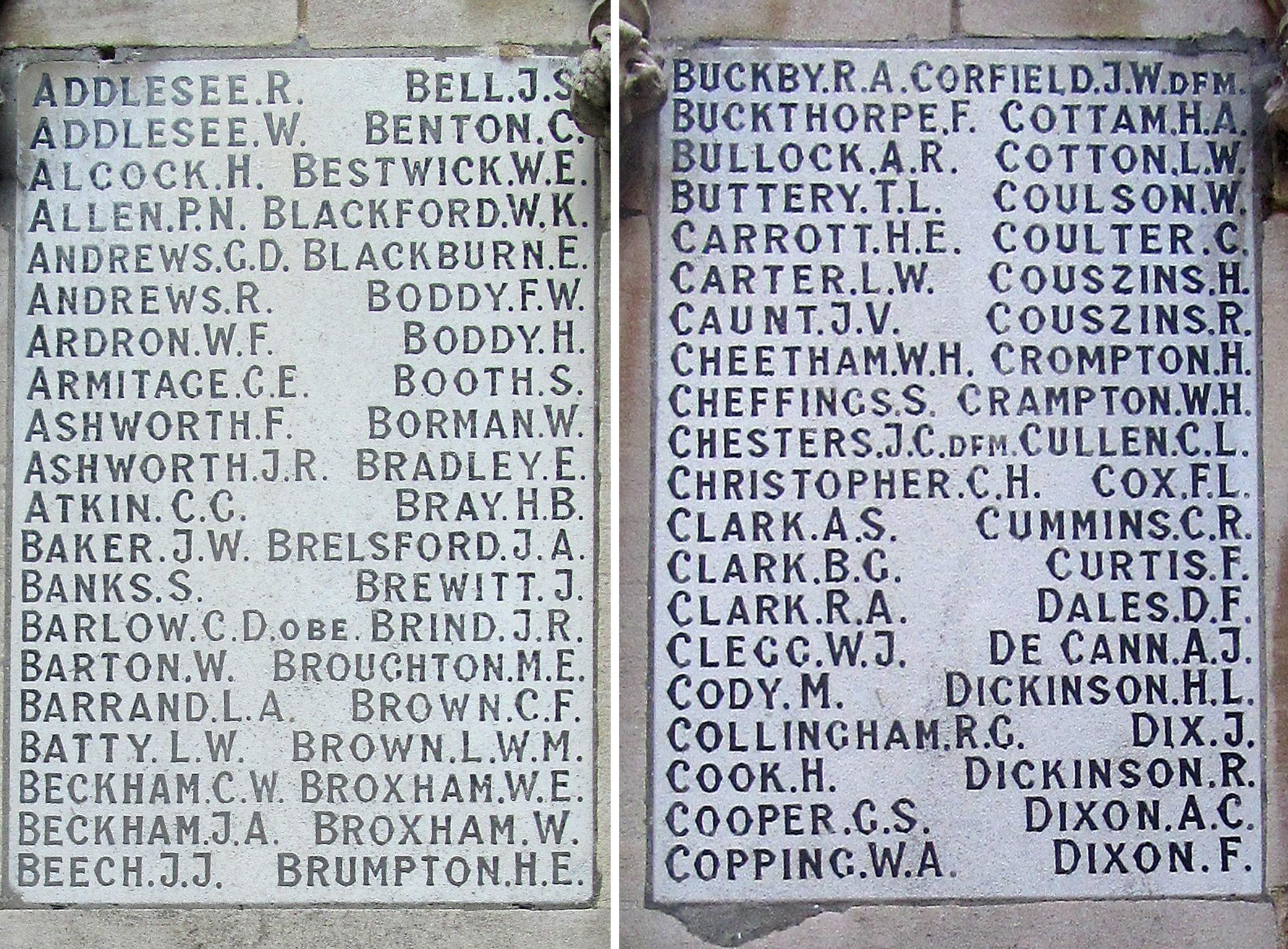 Lincoln City - War Memorials Online