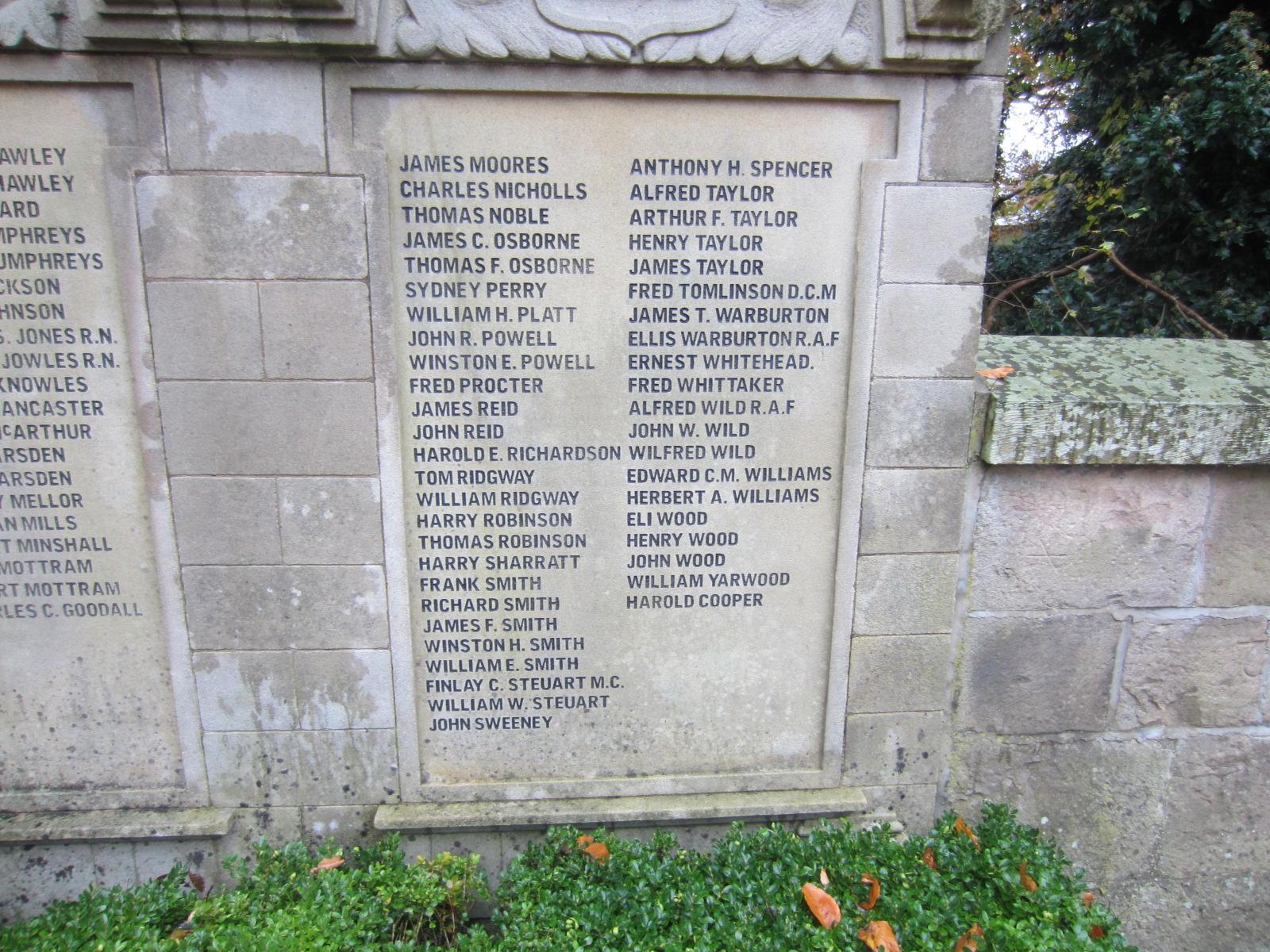 High Lane War Memorial - War Memorials Online