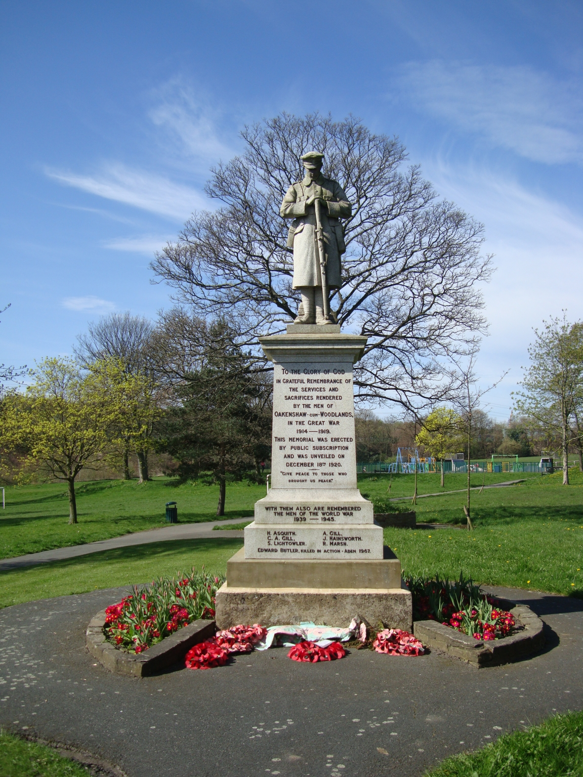 Image result for oakenshaw cenotaph