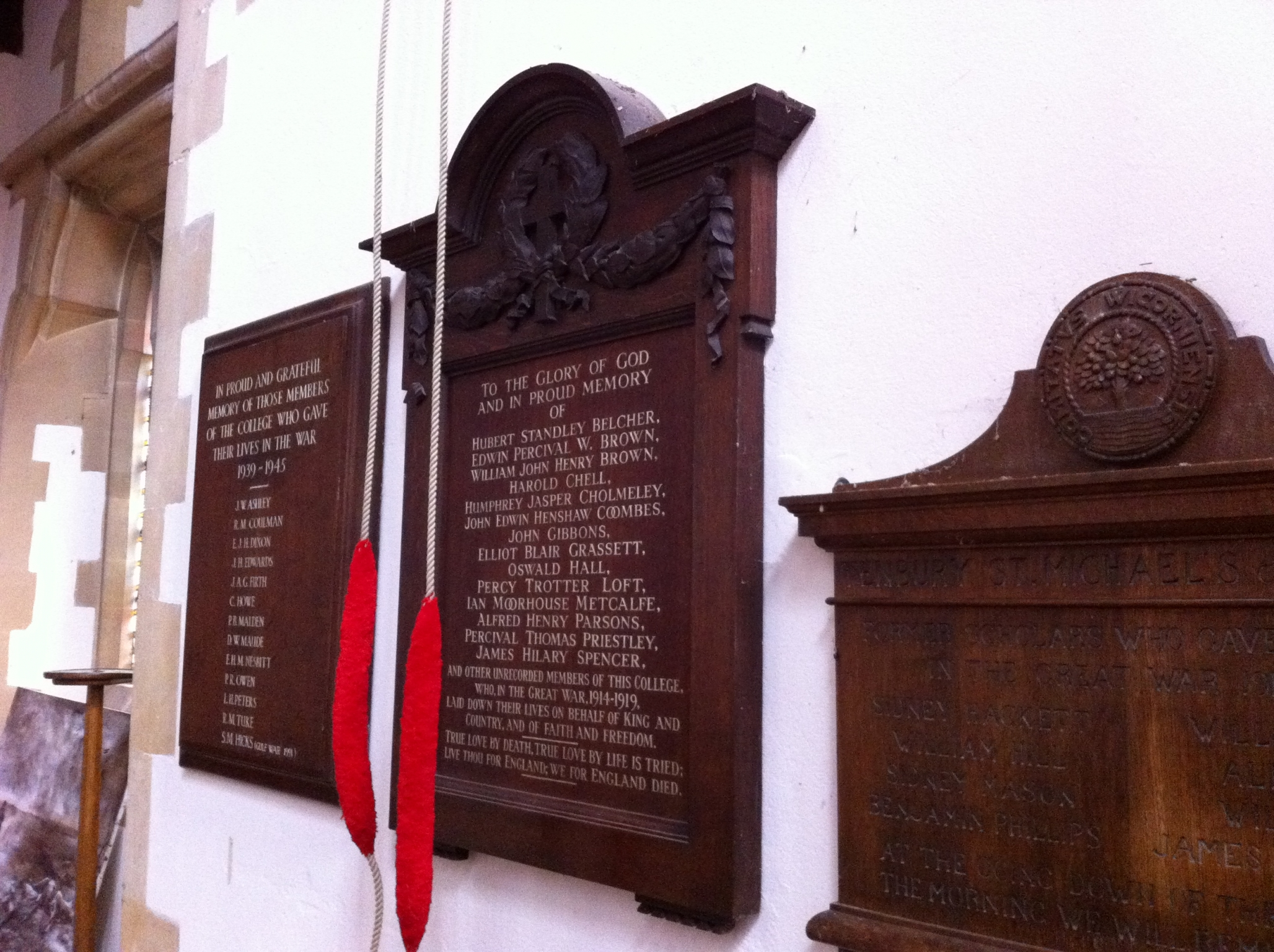 Tenbury St Michael's Church WWI - War Memorials Online