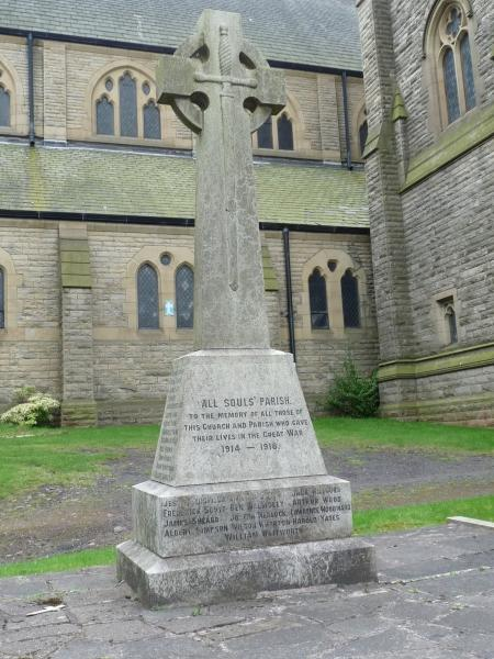 Heywood All Souls Parishioners Wwi War Memorials Online
