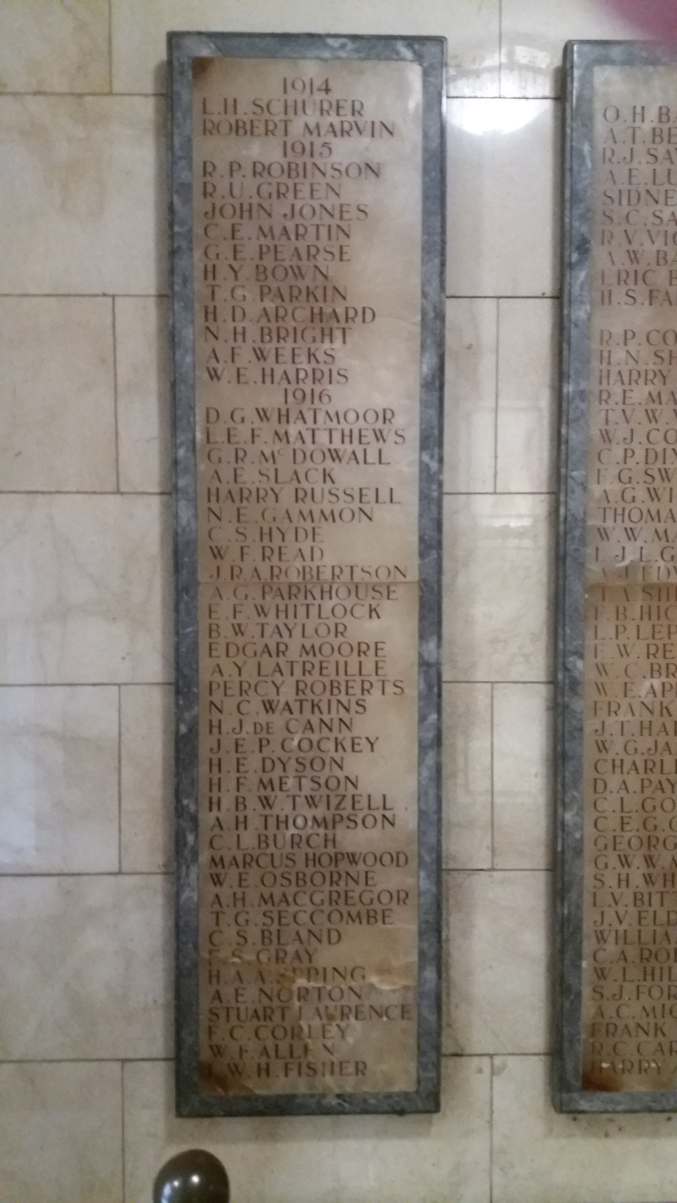 Union Of London And Smiths Bank (WW1) - War Memorials Online