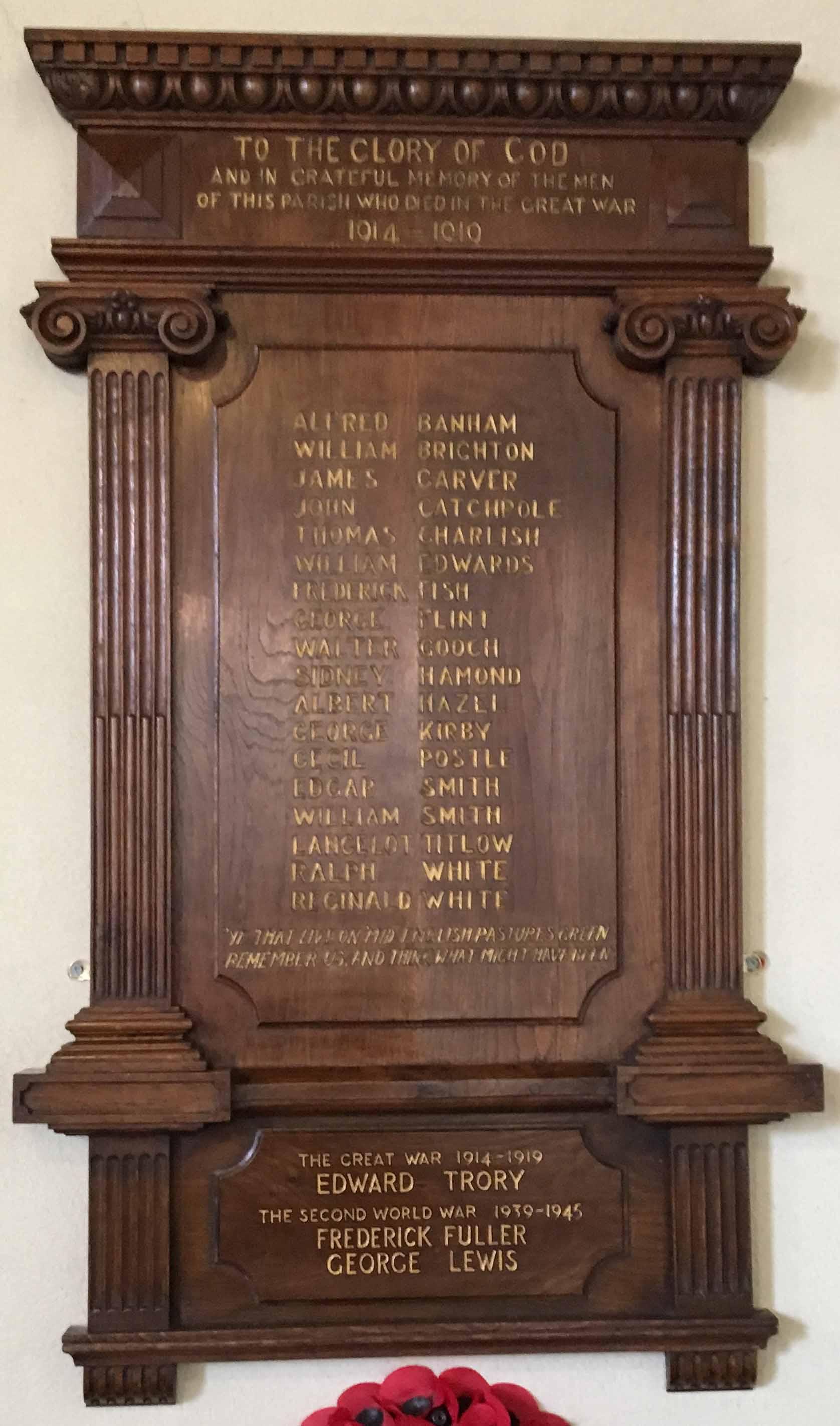 St Mary the Virgin, Newton Flotman - War Memorials Online