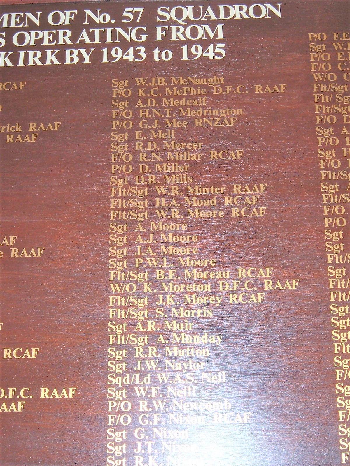 No 57 Squadron Roll of Honour - War Memorials Online